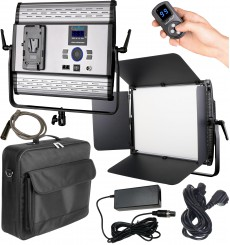 LEDP-100PRO-DMX - Eclairage LED de studio Video & Photo 100W + 100W Bi-Couleur, DMX-512, Support de batterie V-Mount, DC 13V-19V
