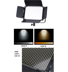 LEDP120PRODMX - Eclairage LED de studio Video & Photo 120W + 120W Bi-Couleur, DMX-512, Support de bat. V-Mount, DC 13V-19V - ill