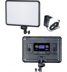LEDP30 - Eclairage LED de studio Video & Photo 30W + 30W Bi-Couleur, Support de batteries 2x NP-F750/960, DC 13V-17V - illuStar