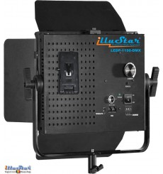 Eclairage LED 75W de studio Vidéo & Photo - LEDP-1190-DMX - 5400°K, 9000 lm, DMX-512, Support de batterie V-Mount, DC 12V-24V
