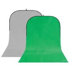 StudioKing Background Board BBT-03-10 Grey/Green 150x400 cm