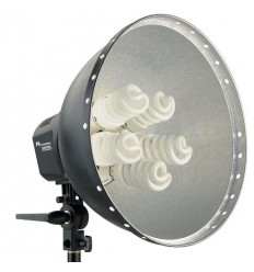Lamp + Reflector 40cm LHD-5250F 5x28W - Falcon Eyes